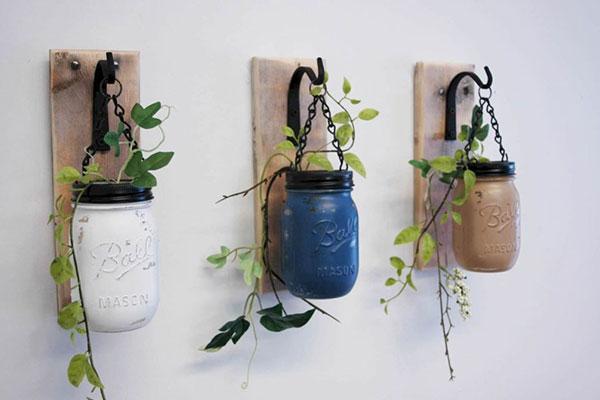 Upcycling potes de vidro