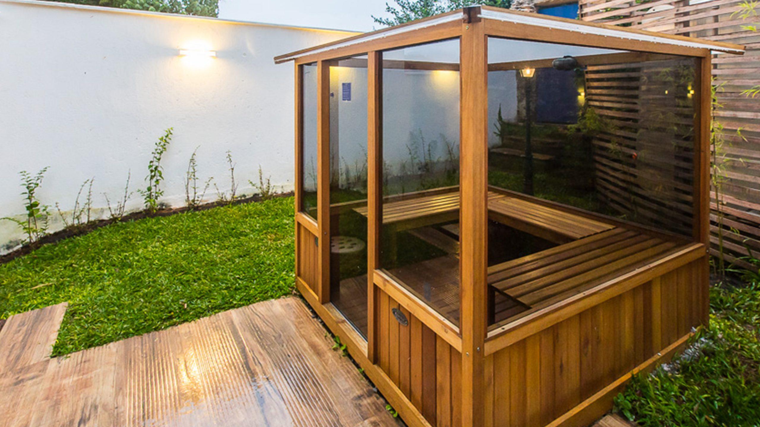 Como funciona a sauna de madeira?